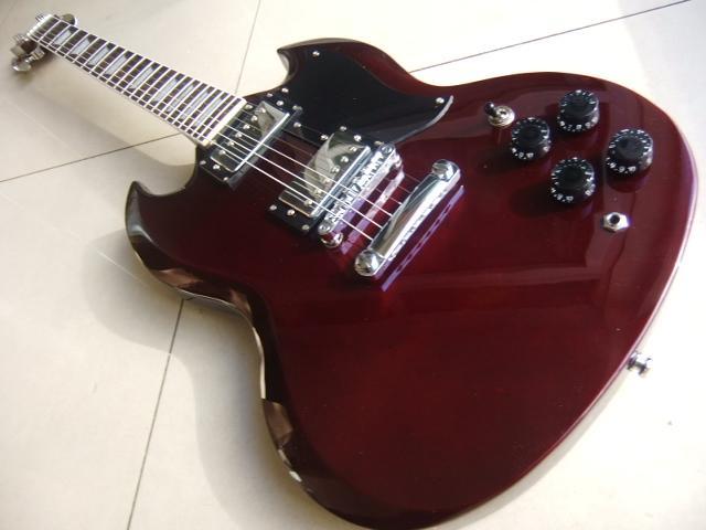 Ücretsiz kargo! En iyi Fiyat En Kaliteli Cibson SG Elektro Gitar. G400 Modeli abanoz klavye Guitar.classic müzik aleti