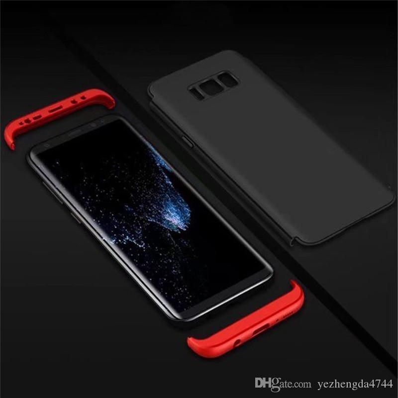 Tam Kapak Hibrid Case Arka Samsung Galaxy S8 S8 S7 kenar Sıcak Satış Lüks Ince Darbeye 3 in 1