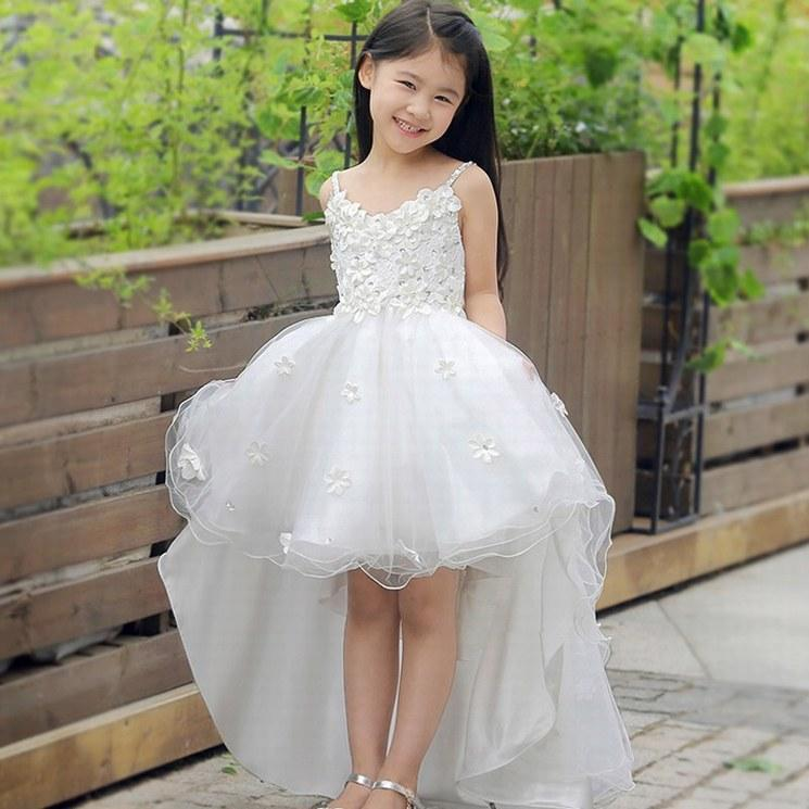 New Charming Pincess Flower Girl Abiti Pageant Kids Wedding Party Dress Bambini Occasione compleanno Prom Dress GHTZ135