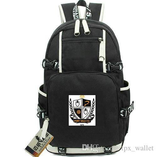 Sac à dos Vale Port FC Sac à dos Club de football Valiants Sac de sport sac à dos Sac à dos pour ordinateur portable Sac à dos sport Sac à dos porte extérieure