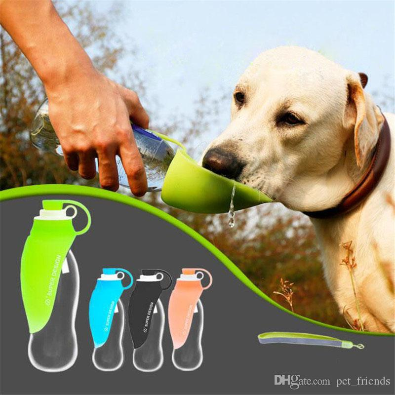 Dog Feeder Portable Dog Water Bottle Travel Silicone Outdoor Products