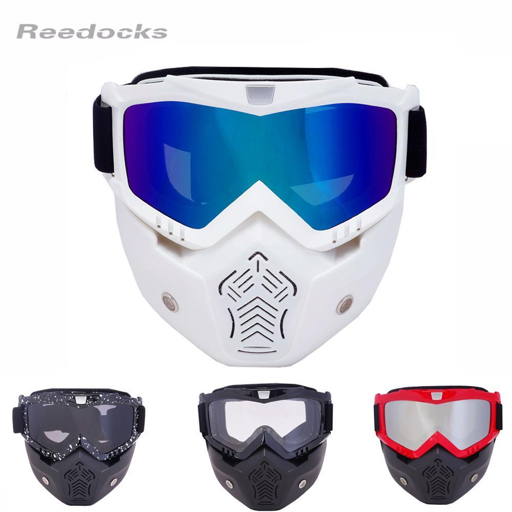Wholesale-REEDOCKS 2017 الساخن بيع قناع وحدات انفصال نظارات الفم تصفية التزلج الرجال النساء يندبروف الثلج الجليد التزلج نظارات