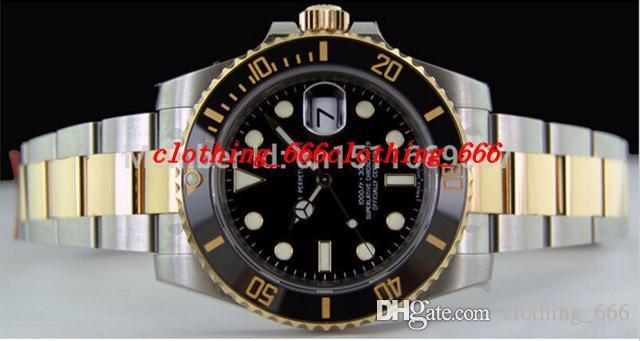 Homens de luxo Assista Moda Top Quality Luxo Sapphire 40mm Inoxidável Preto Cerâmica - 116613 Esporte Automático Mens Assista Relógios de Pulso dos Homens