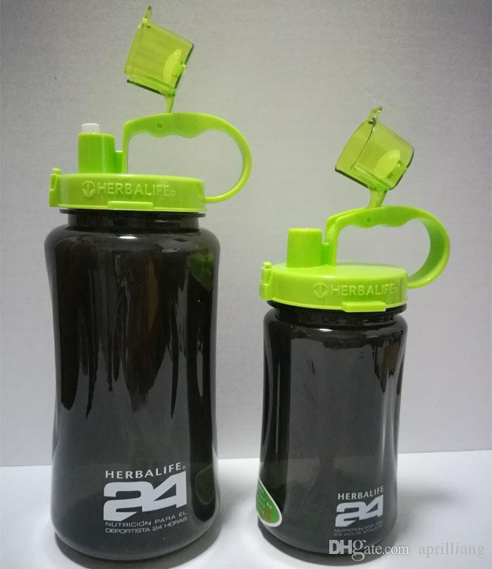 Large Outdoor Sports Herbalife Water Bottle Travel Camping Hiking Portable Straw Cap Shake Cup Health Drink with Lip 1000ML 2000ML 32OZ/64OZ