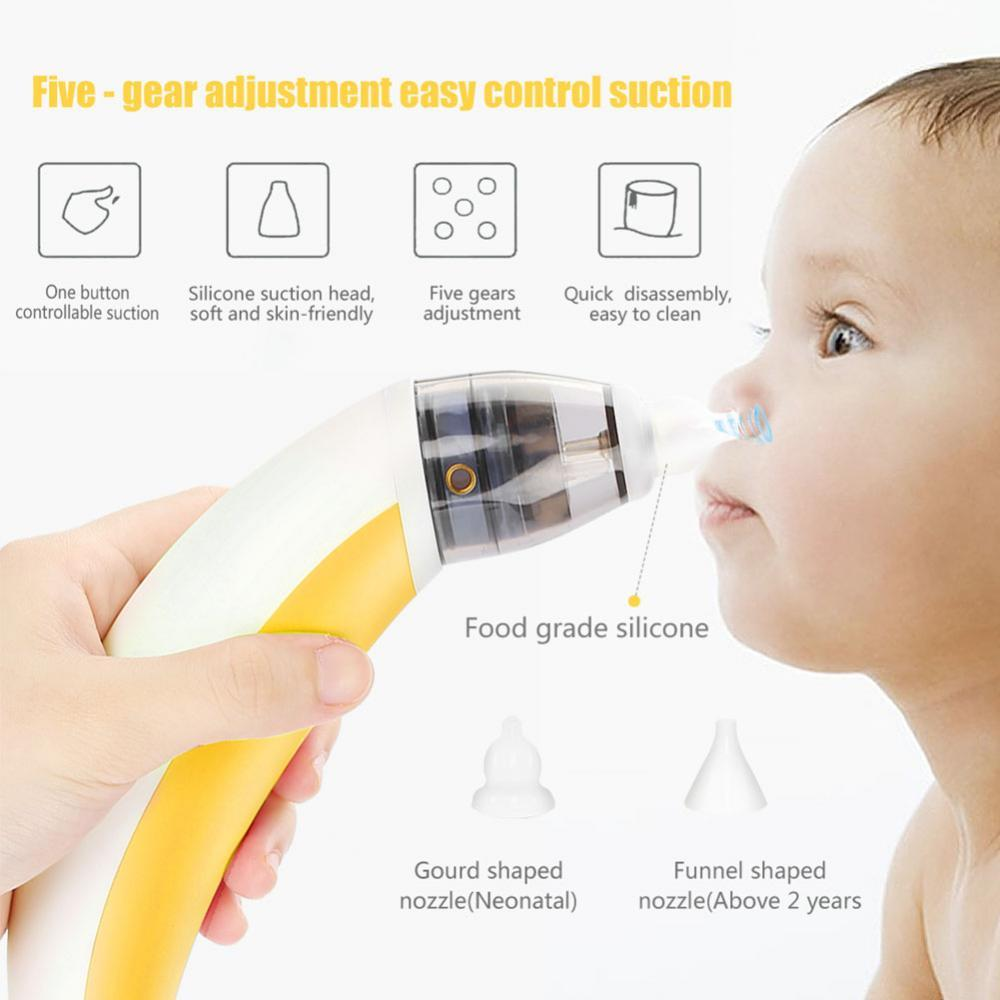 Baby Nose Cleaner Snot Nasal Suction Device Newborn Aspirator Vacuum Safe Sucker
