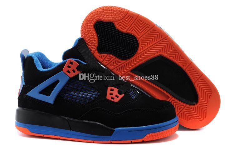 Großhandel 2018 Nike Air Jordan 4 13 Retro 4s OG Schwarze Katze Basketball Schuhe Reflektieren Für Kinder Jungen Mädchen Sport Training Turnschuhe