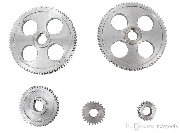 5pcs/set CJ0618 machine tool gear Metal Gears Micro lathe gear Metal cutting gear