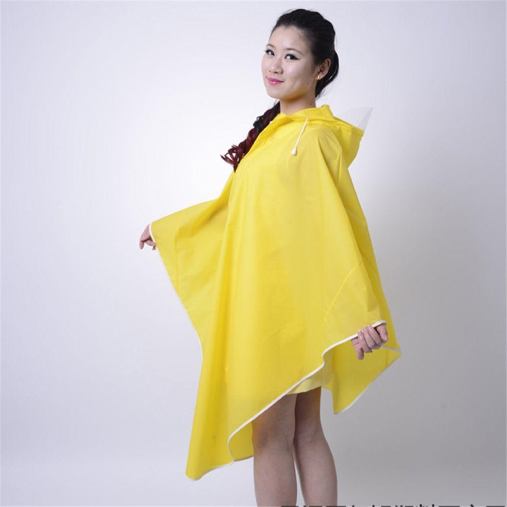 1 pcs Fashion Women Outdoor Travel Waterproof Riding Clothes Raincoat Poncho Hooded Long Rainwear bicycle poncho