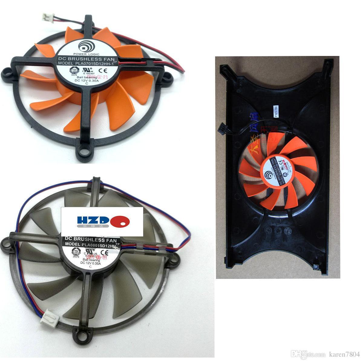 Palit GTS450 ventilador de la tarjeta gráfica RDD8015B1 NF0815B1HK PLA08015B12HH PLA08015D12HH 12V 0.35A PLA07015D12HH GTS250 9600GT hd4830