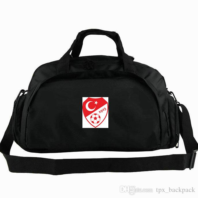 Turkey duffel bag Tur star moon national tote Football team backpack Soccer 2 way use luggage Sport shoulder duffle Badge sling pack