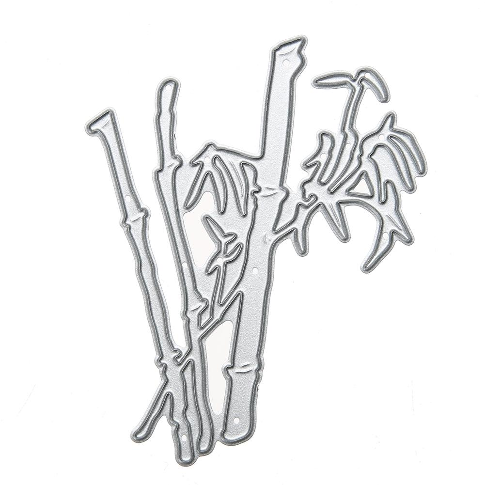 Silver Bamboo Cutting Dies Metal Scrapbooking Stencil for Photo Album Decoration Embossing Folder Paper Card Cutter