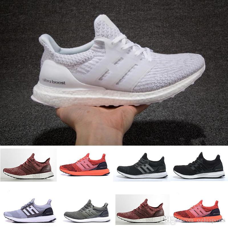 Compre Adidas Ultra Boost 3.0 Venta Caliente 2018 Zapatos Ultra Casuales  4.0 Triples Blancas Negras Grises Hombres Mujeres UB 3.0 Azules Oreo  Casuales ...