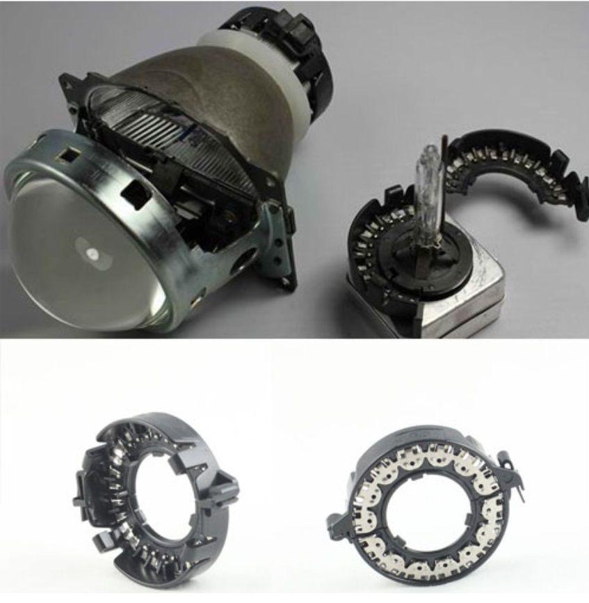 HID ксеноновые лампы держатели металлический зажим кольца фиксаторы проектор адаптер база для BMW Mercedes Cadillac D1S D1R D1C D3S (2 шт)