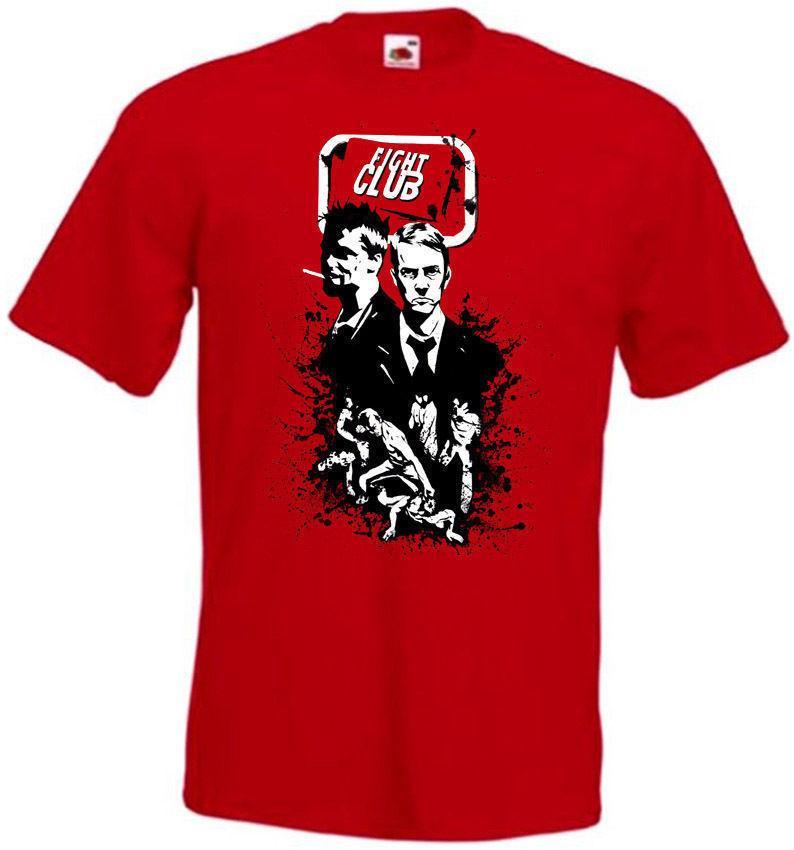 Clube da luta V5 T Camisa Vermelha Movie Poster Todos Os Tamanhos S-3xl Dos Desenhos Animados Imprimir T-shirt de Manga Curta Frete Grátis