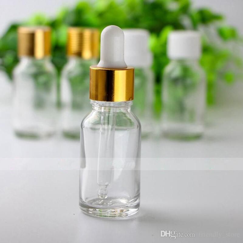 USA Market E liquid Vape 15ml Clear glass dropper bottles Mini Empty Oil Bottles With Dripper Cap And Glass Tip Free Shipping