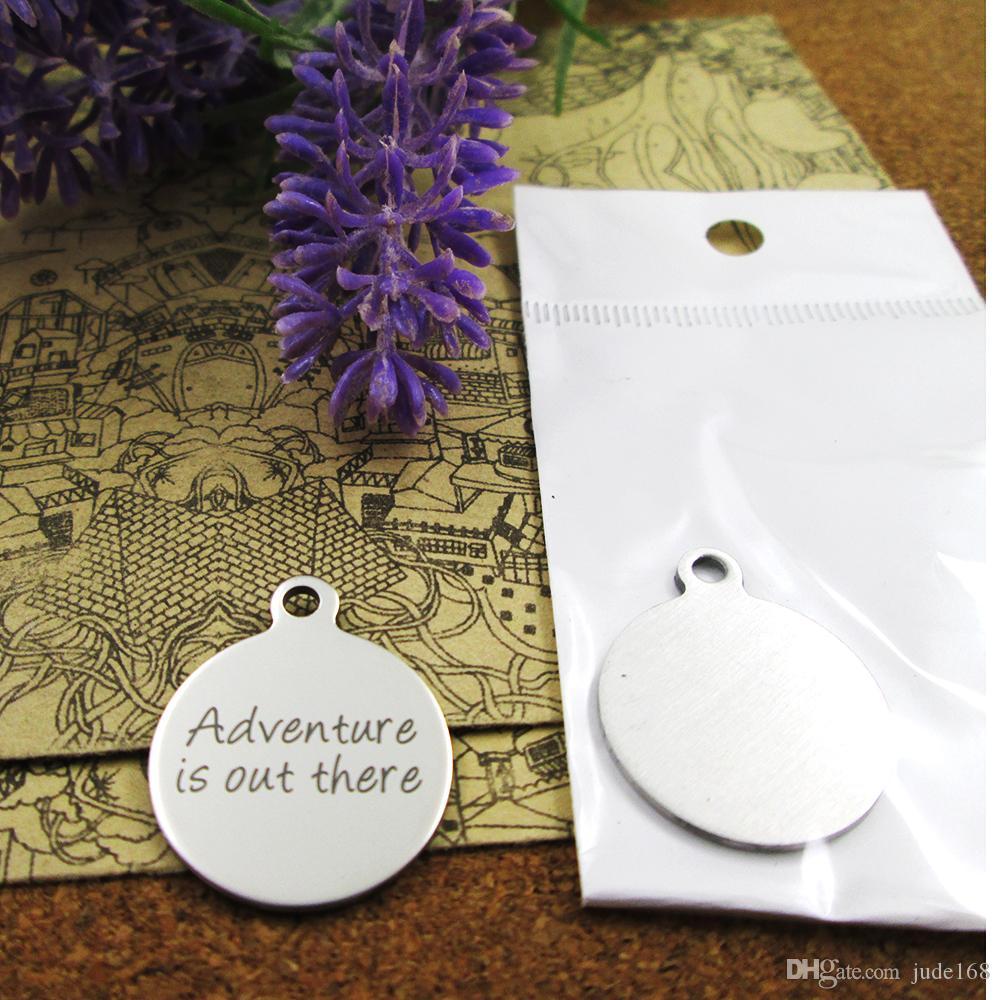 40шт - «приключение там» прелесть нержавеющей стали больше стиля для выбора DIY очаровывает подвески для ожерелья