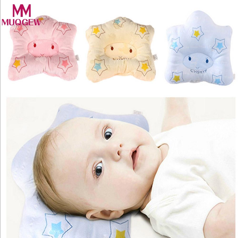 2018 New baby pillow infant shape toddler sleep positioner anti roll cushion flat head pillow protection of newborn almohadas