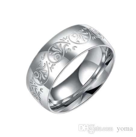 новое прибытие из нержавеющей стали кольца цветочный узор кольцо для женщин мужчины ювелирные изделия национальный стиль унисекс подарок
