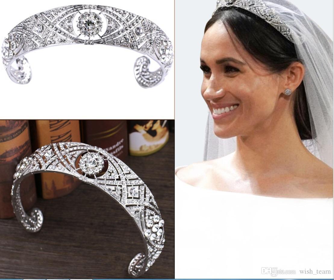 2018 nueva boda de la corona de la reina de novia tiaras de cristal brillante diadema princesa de la corona de la boda accesorios para el cabello pelo joyas
