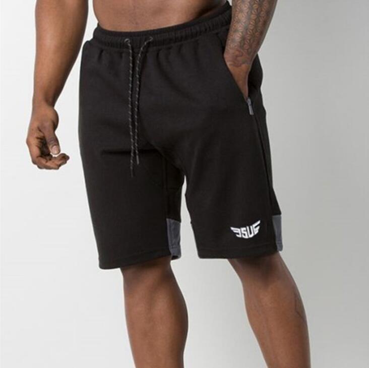 2018 горячие мужчины шорты новая мода Письмо печати половина длина повседневная черный серый дизайнер лето стиль шорты M-XXL мальчик брюки