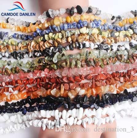 Camdoe danlin رقائق الحجر الطبيعي الخرز lrregular 5-8 ملليمتر كريستال الفيروز الجزع ستراند 16 '' صالح diy لصنع المجوهرات بالجملة