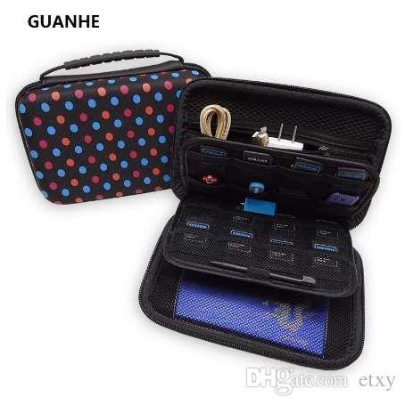 GUANHE Ева сумка для хранения чехол защитный чехол путешествия чехол для жесткого диска, SSD, Nintendo новый 3DS XL / 3DS XL новый 3DSXL / LL