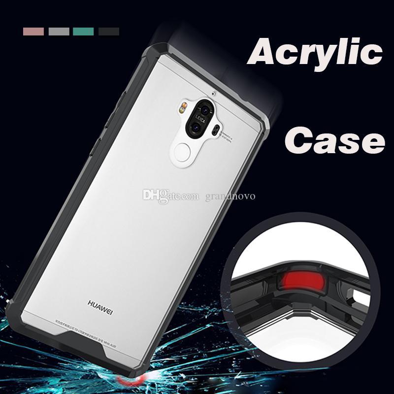 Air hybride acrylique armure anti-choc en cristal TPU protection transparent clair Housse peau pour Huawei P20 P10 Pro Plus P9 Lite Maté 20 10