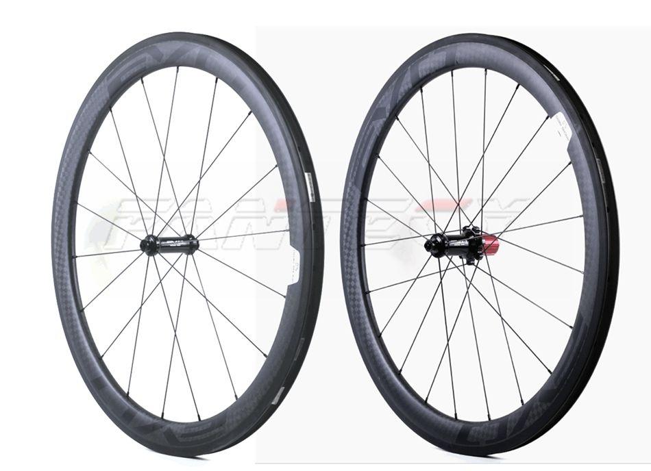 EVO 700C roues de carbone de vélo de route de profondeur de 25mm de largeur de 50mm la largeur de roues de carbone de vélo de route tubulaire avec la finition mate d'UD