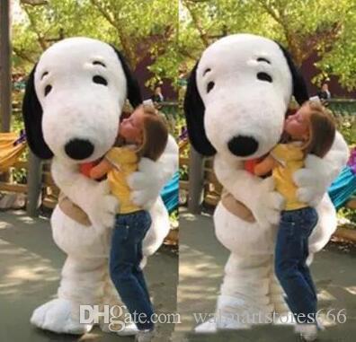 2018 горячие продажи EPE взрослый размер Snoopy собака костюм талисмана Хэллоуин Chirastmas партия необычные платья Бесплатная доставка