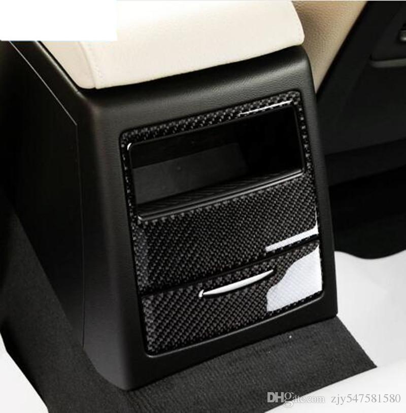 Décoration de garniture de panneau arrière de climatisation de voiture de fibre de carbone arrière pour BMW E90 3 Series 2005-2012 320i 325i Car Styling