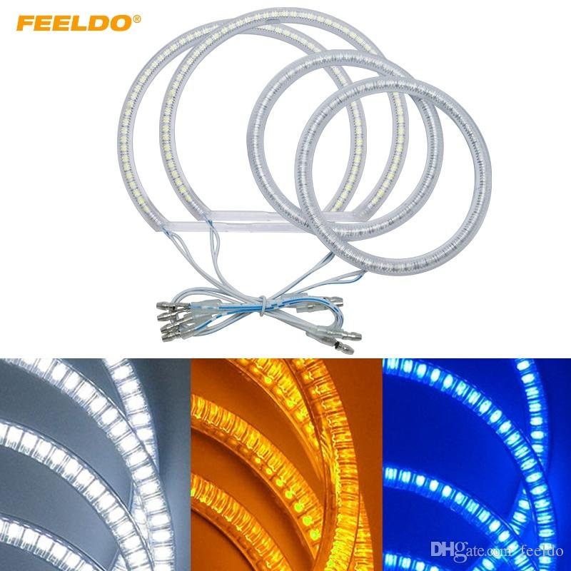 FEELDO Auto SMD Angel Eyes Light Halo Rings DRL For Ford Focus 08+ Headlight 3-Color #3665