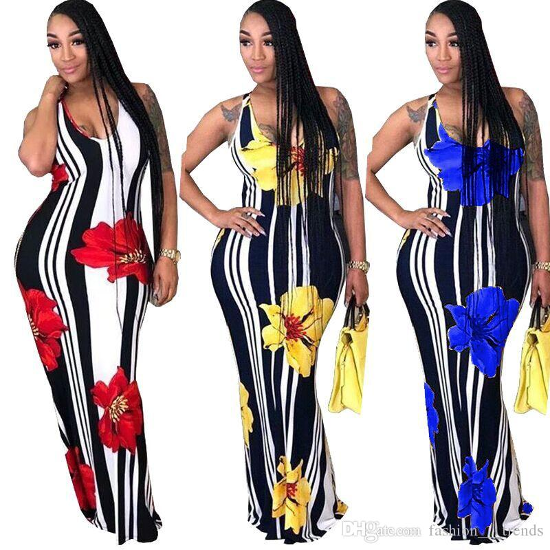 Dashiki African Traditional Clothing African Robe Long African Print Dresses Stand Collar Maxi Dress Summer Female Sleeveless dress Vestidos