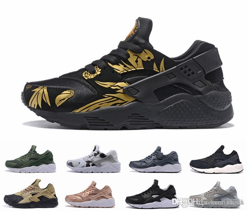 2017 New Style Air Huarache 1 Ultra Run Sports Shoes Men Women Huaraches Running Shoes Trainer Sneakers With Box Size US5.5 11 Running Shoes For Flat