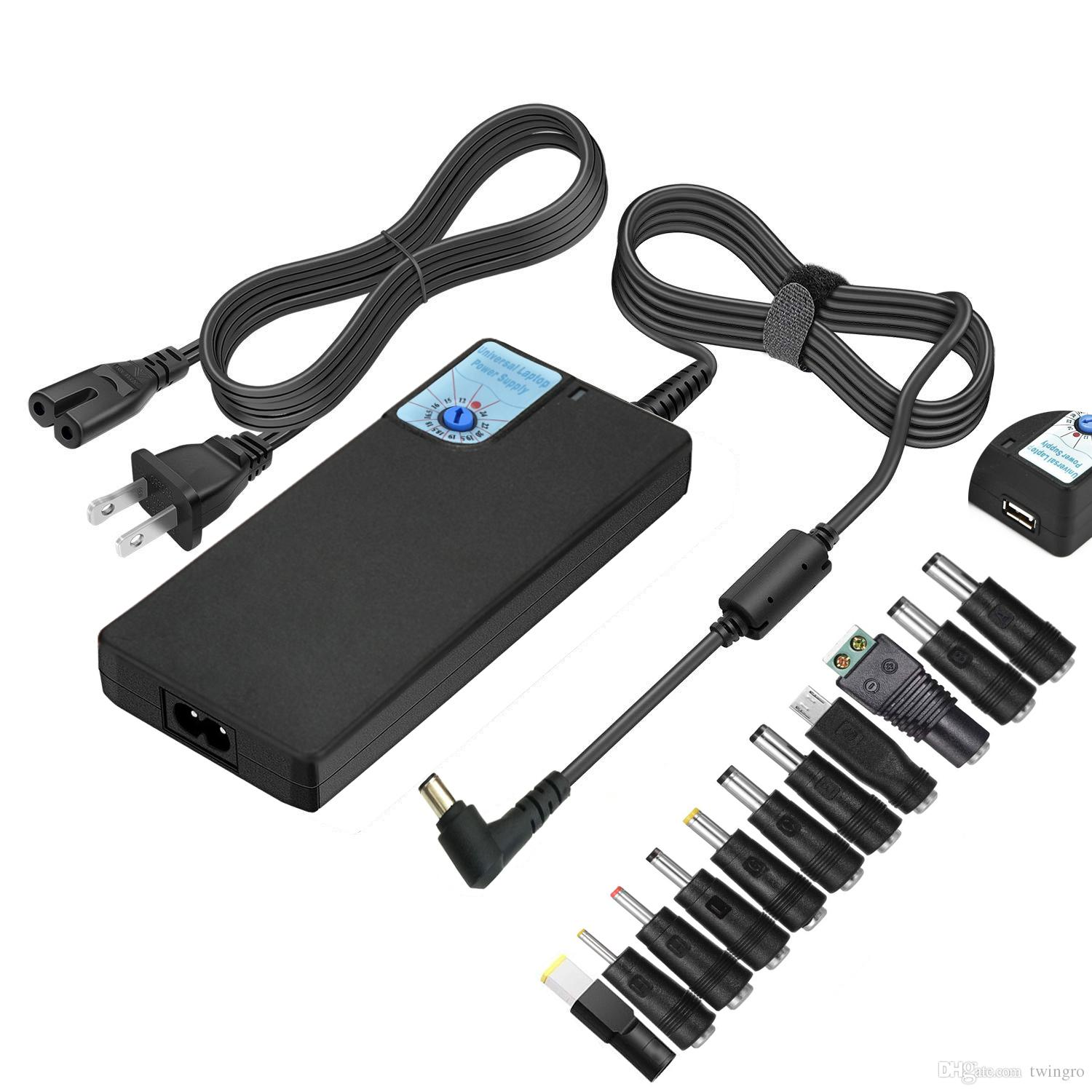 Universal Ac Laptop Charger Power Adapter for Hp Dell IBM Lenovo Apple Acer Samsung with USB Port