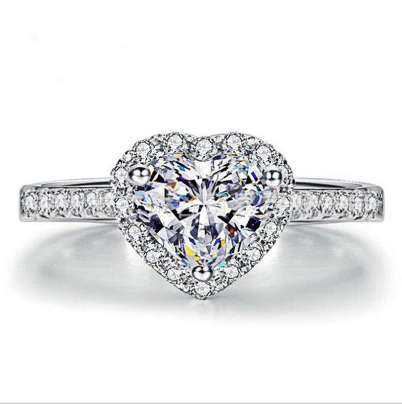 Красивые Возлюбленной Алмазные Кристаллы Ювелирные Изделия Кольца Для Свадьбы Женщин Палец Кольца Модные Аксессуары