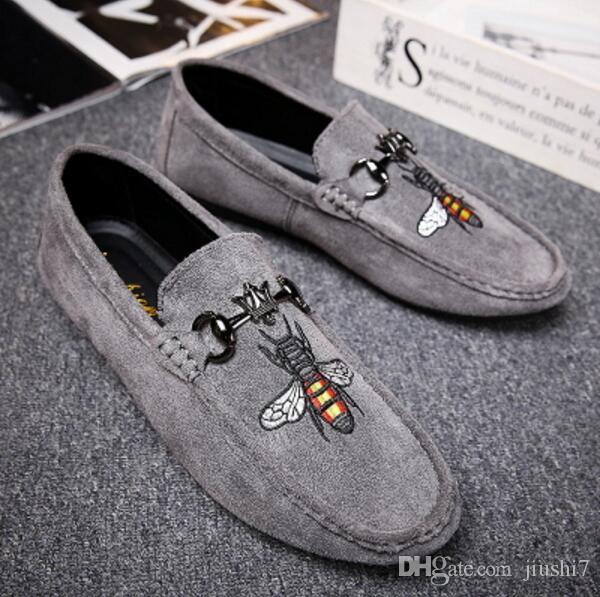 Mode Hommes Mocassins Slip on Mens Velvet Stitchwork Chaussures Casual Chaussons De Velours Britanniques Chaussures Habillées Hommes Appartements Mariage Chaussures et Chaussures De Fête G3.17
