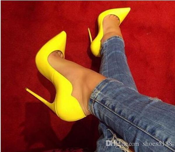 Mode Frauen Pumpt Frauen Rote Untere Schuhe Marke High Heels Lackleder Schuhe Für Frauen Sexy Party Hochzeit Schuhe Frau High Heels 34-45