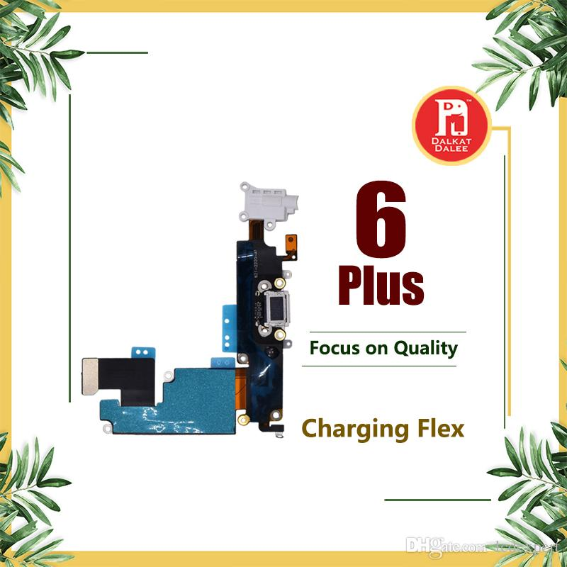Charging Charger Data Port USB Dock Connector Flex Cable For Apple iPhone 6 Plus 5.5 inch Headphone Audio Jack Mic Flex Cable