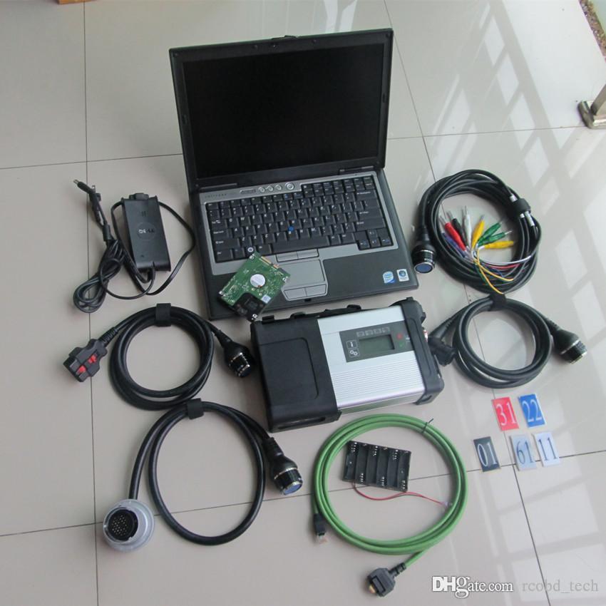 SD Connect Star Teşhis Aracı MB C5 Dizüstü D630 HDD En Yeni Tüm Kablolar Tam Set Kullanıma hazır