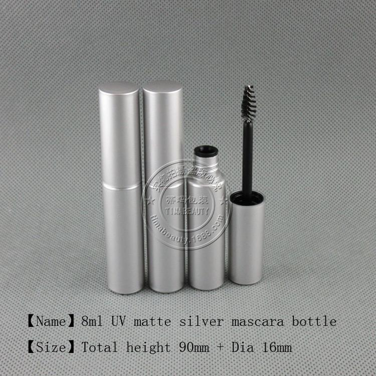 8ml silver mascara bottle