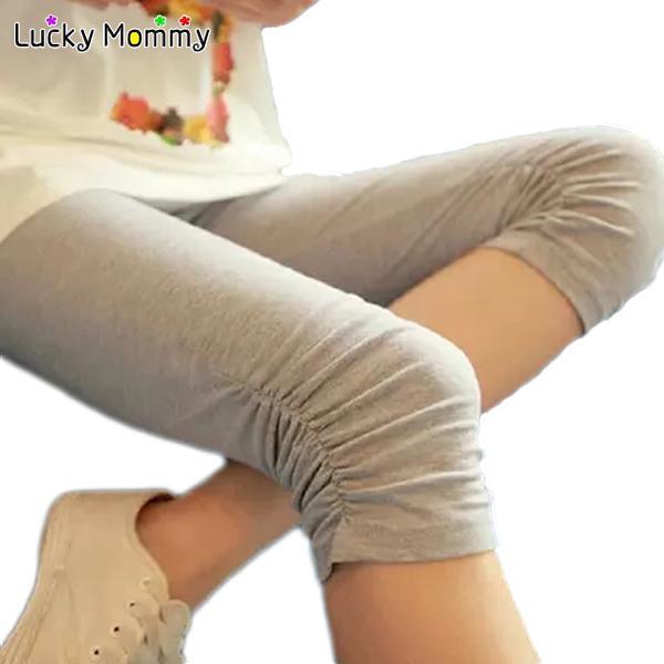 임신 한 여성을위한 패션 출산 레깅스 여름을위한 편안한 모달 출산 바지 카프리스 임신 복부 배꼽 바지