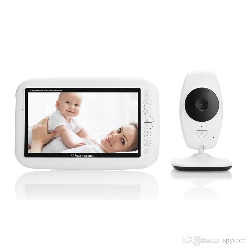Baby Monitor CCTV Surveillance Camcorder Audio Video Night Vision Intercom 7Inch