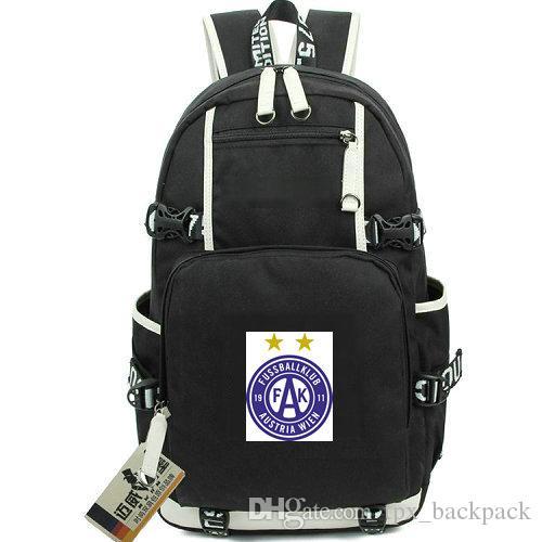 FK Austria Wien mochila días FKA empacar una mochila bolsa de la escuela de fútbol del club de fútbol del equipo packsack Calidad mochila mochila deporte fuera de la puerta