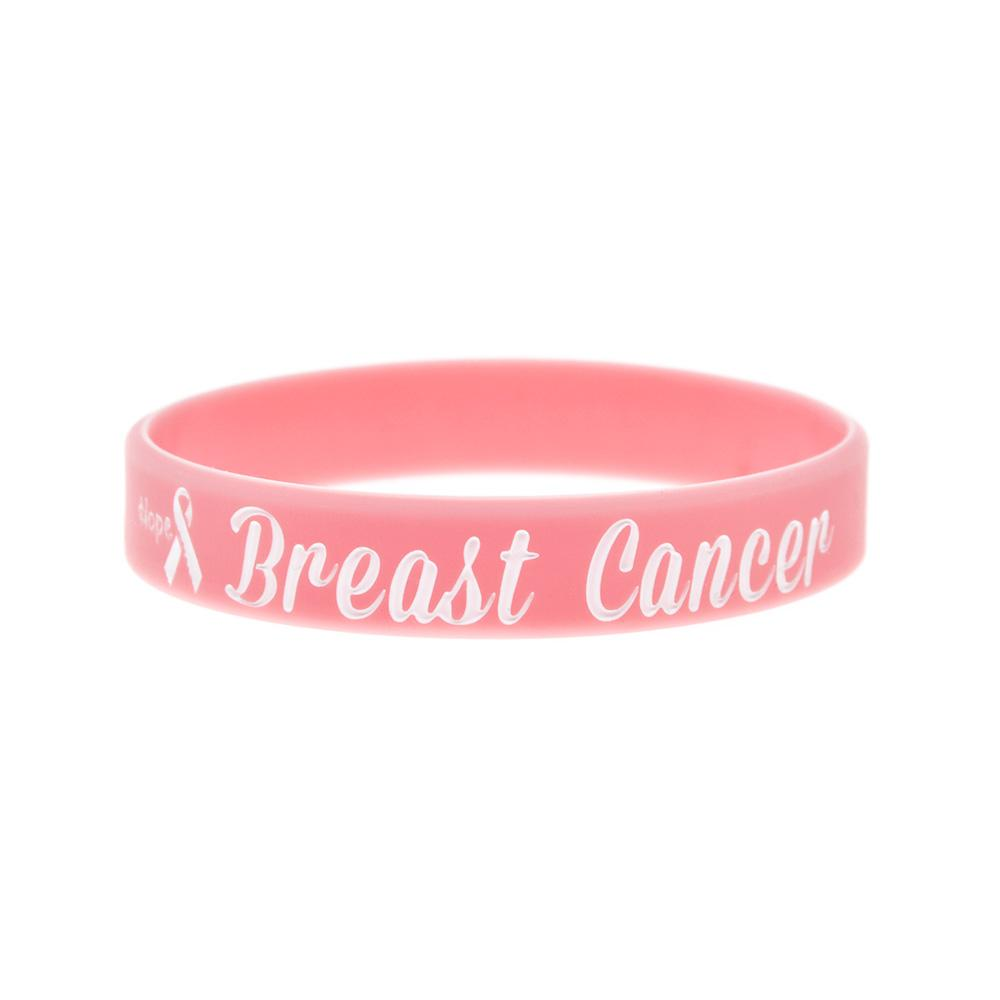 1PC Pink Hope Ribbon Breast Cancer Awareness Silicone Wristband A Great Way To Show Your Support