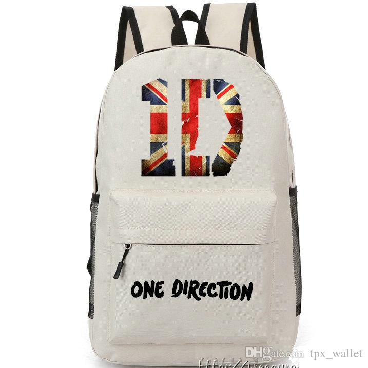 Sac à dos 1D Sac à dos One Direction Sac à bandoulière logo cartable Sac à dos style cool Sacoche sport