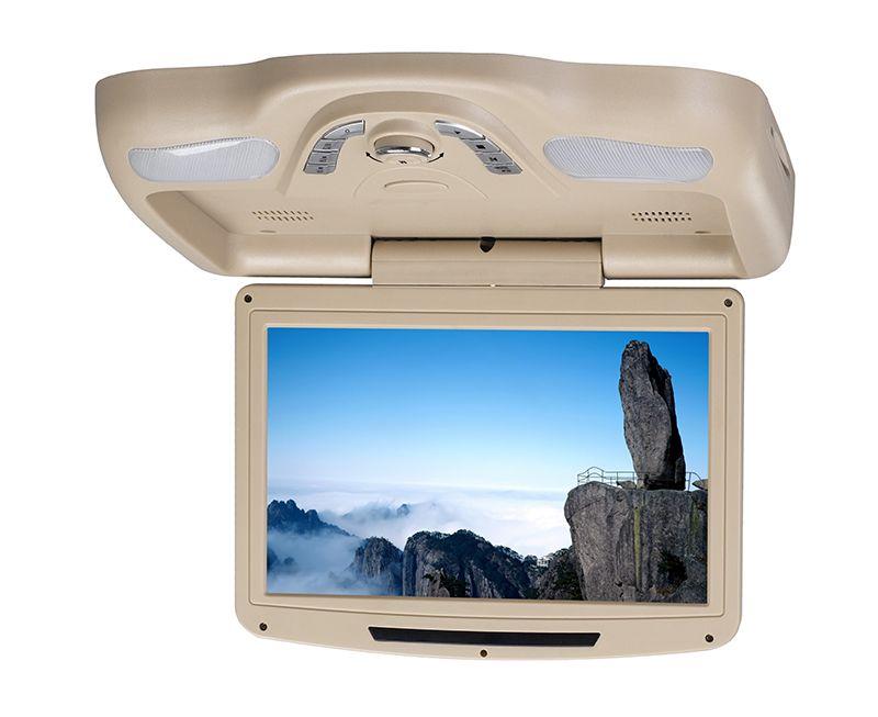 1piece 11 inch car roof mount dvd USB SD FM IR Game Stable car dvd player flip down