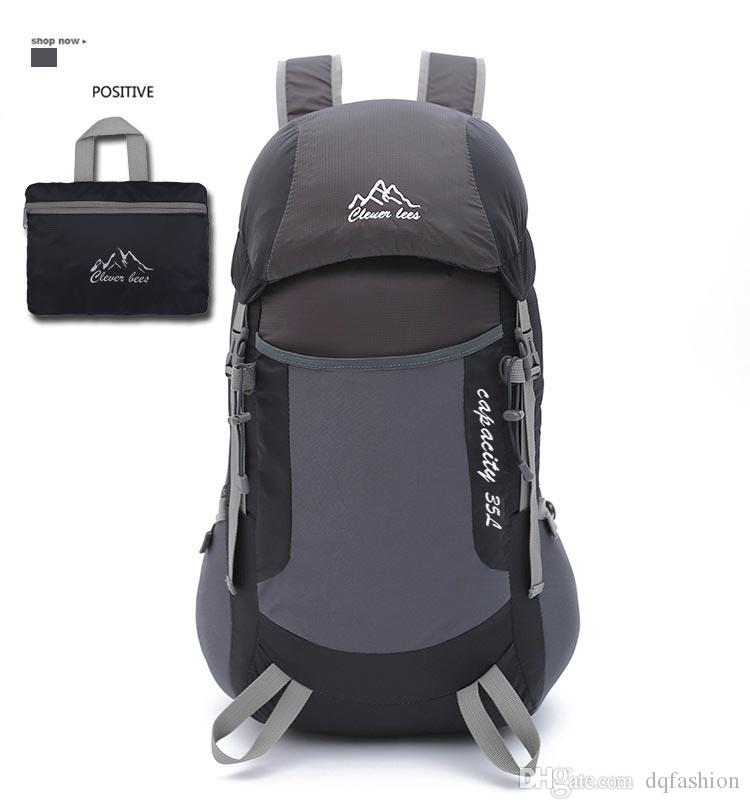 New Outdoor Folding Backpack Men's Mountaineering Travel Backpack Fashionable Women's Light Sports Folding Backpack Free Shipping