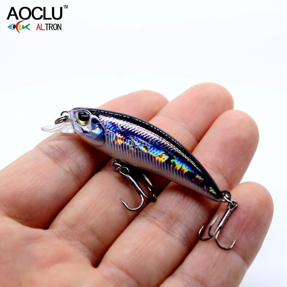 AOCLU wobblers Jerkbait 8 Colors 5cm 4.0g Hard Bait Small Minnow Crank Fishing lures Bass Fresh Salt water tackle sinking lure C18110601