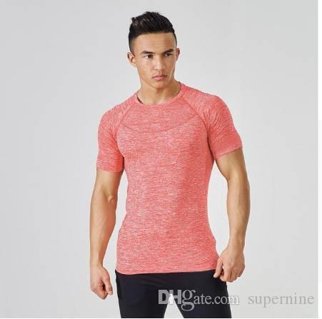 Magliette per Uomo Estate Magliette per Bodybuilding Fitness Camicie Abbigliamento Blu O-Collo Manica Corta Streetwear Maglietta Top Hip Hop
