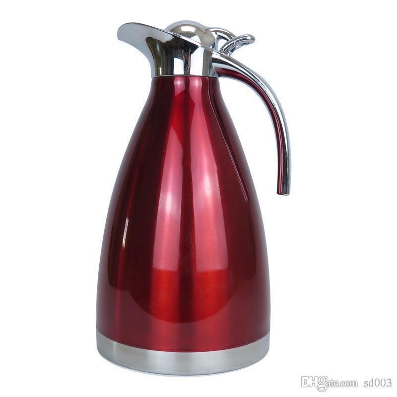 Novel Vacuum Tea Kettle Multi Color Double Deck Vacuum Insulated Coffee Pot Leak Proof Stainless Steel Water Bottle Practical 26cs2 cc